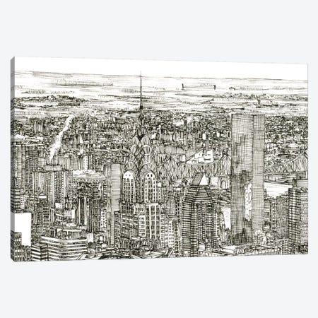 Skyline Sketch I Canvas Print #WNG245} by Melissa Wang Canvas Print