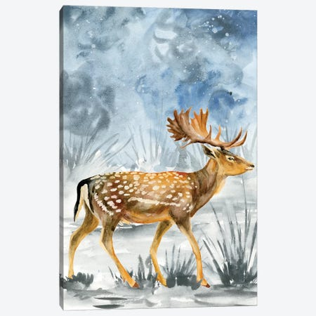Snowy Night I Canvas Print #WNG247} by Melissa Wang Art Print