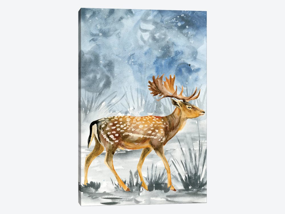 Snowy Night I by Melissa Wang 1-piece Canvas Print