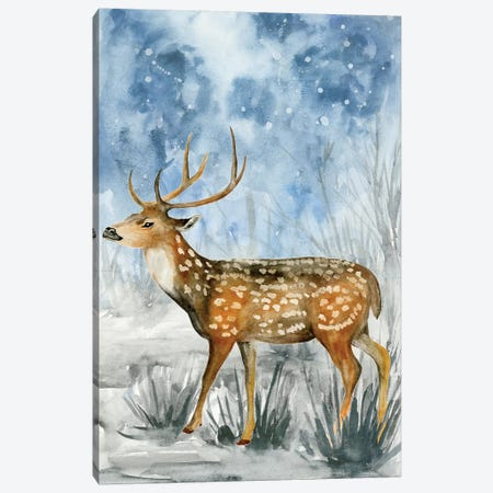 Snowy Night II Canvas Print #WNG248} by Melissa Wang Canvas Artwork