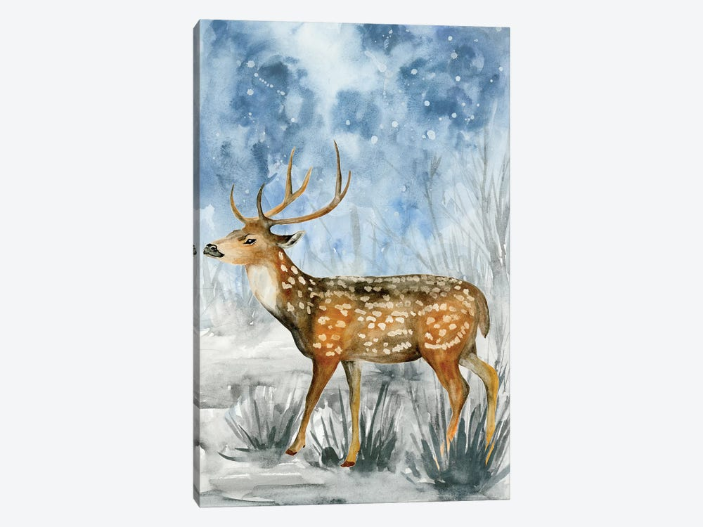 Snowy Night II by Melissa Wang 1-piece Canvas Wall Art