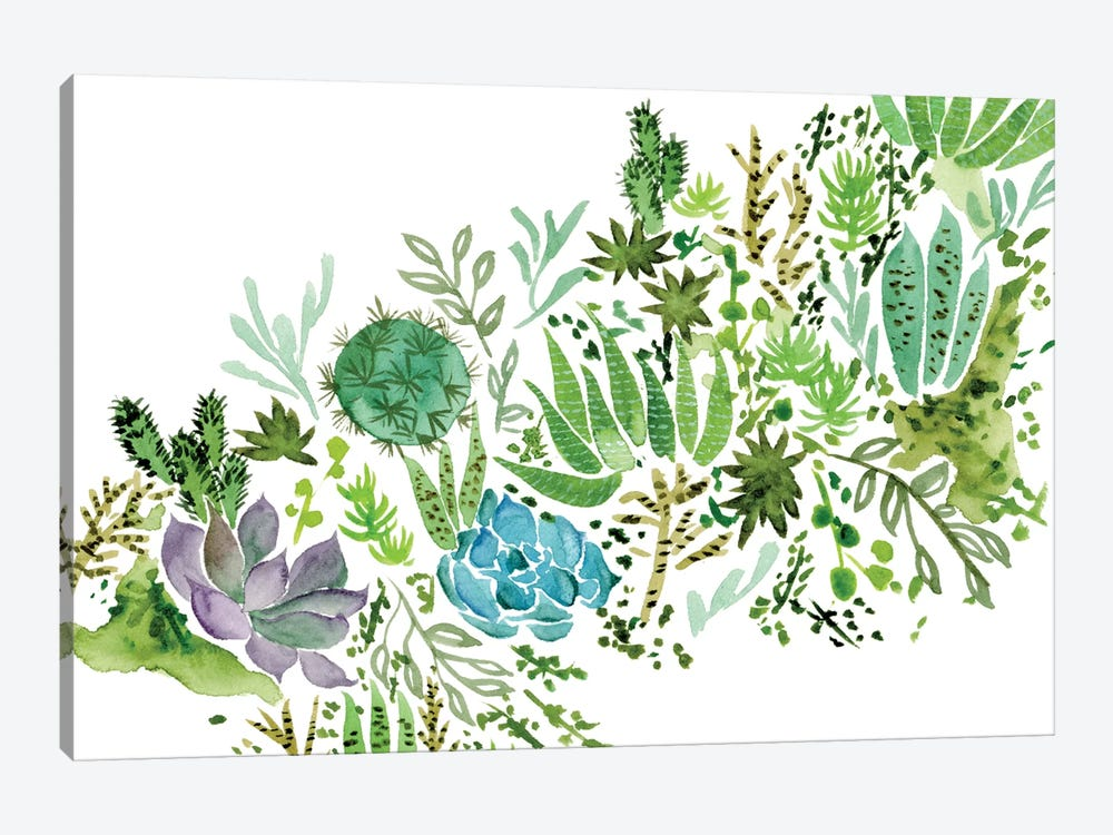 Succulent Field I by Melissa Wang 1-piece Art Print