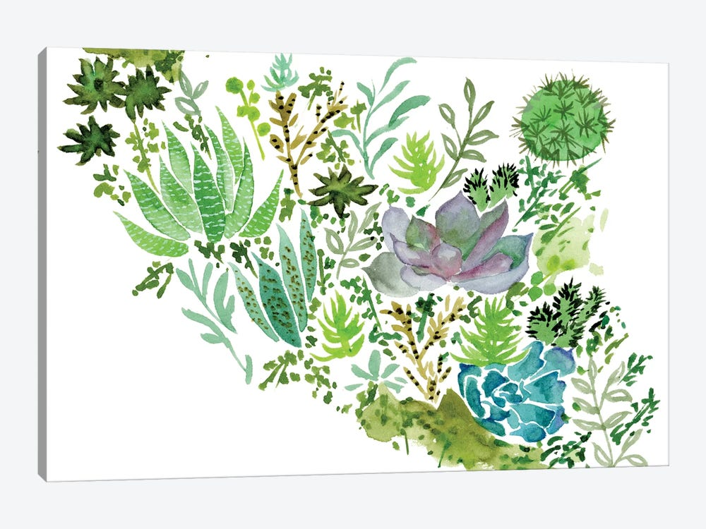 Succulent Field II by Melissa Wang 1-piece Canvas Print