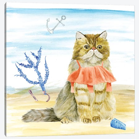 Summer Purr Party I Canvas Print #WNG251} by Melissa Wang Art Print