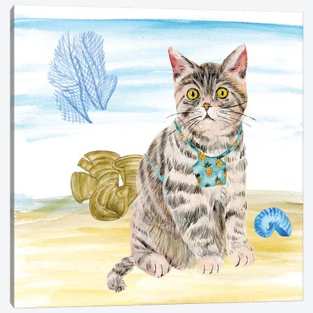 Summer Purr Party II Canvas Print #WNG252} by Melissa Wang Canvas Art Print