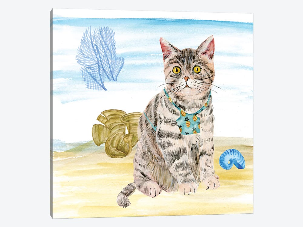 Summer Purr Party II by Melissa Wang 1-piece Art Print