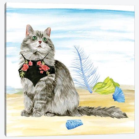 Summer Purr Party III Canvas Print #WNG253} by Melissa Wang Canvas Art Print