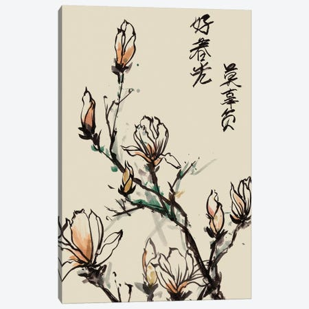 Mandarin Magnolia I Canvas Print #WNG25} by Melissa Wang Canvas Artwork