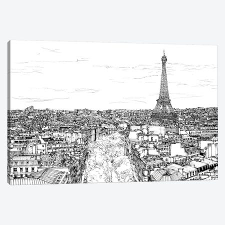 Tour of Europe I Canvas Print #WNG261} by Melissa Wang Canvas Art