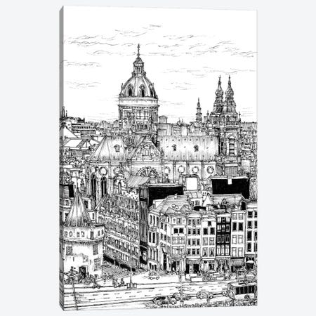 Tour of Europe V 3-Piece Canvas #WNG265} by Melissa Wang Canvas Print