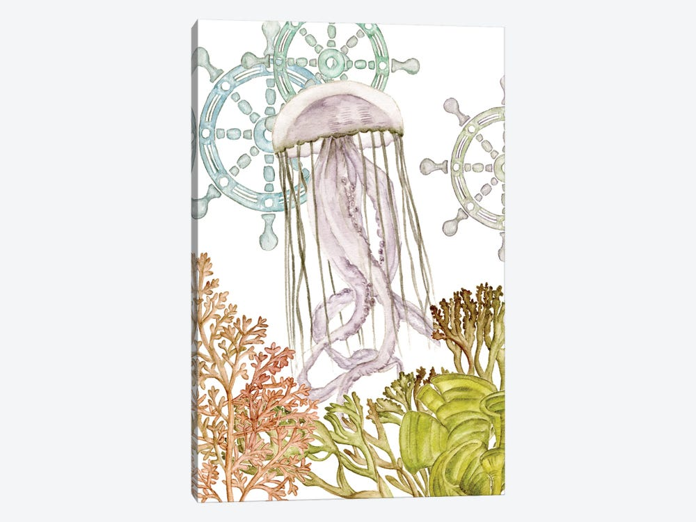 Undersea Creatures III by Melissa Wang 1-piece Canvas Art