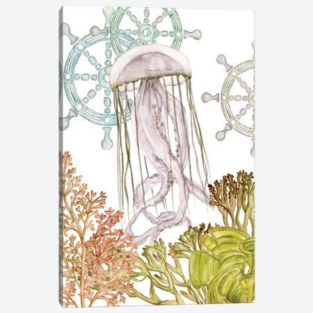 Undersea Creatures III Canvas Print #WNG268} by Melissa Wang Canvas Artwork