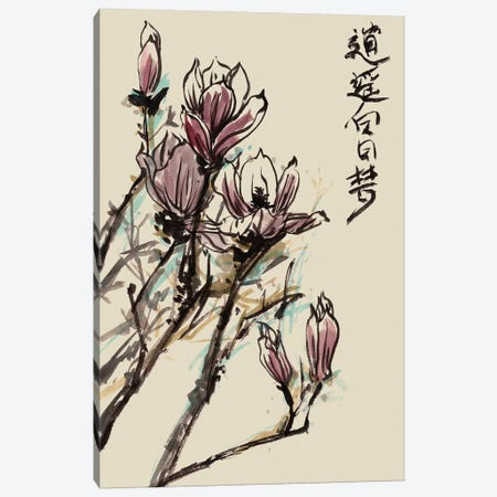 Mandarin Magnolia II Canvas Print #WNG26} by Melissa Wang Canvas Art