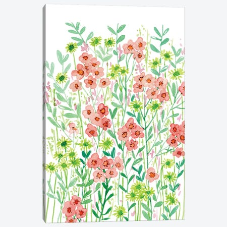 Wall Flowers I Canvas Print #WNG274} by Melissa Wang Canvas Artwork