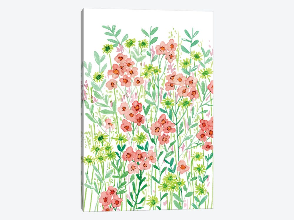 Wall Flowers I by Melissa Wang 1-piece Canvas Art Print