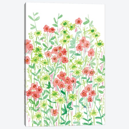 Wall Flowers II Canvas Print #WNG275} by Melissa Wang Canvas Artwork