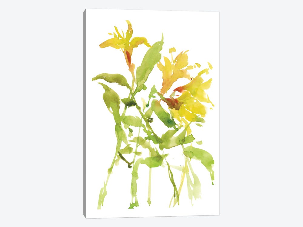 Watercolor Lilies I by Melissa Wang 1-piece Canvas Print