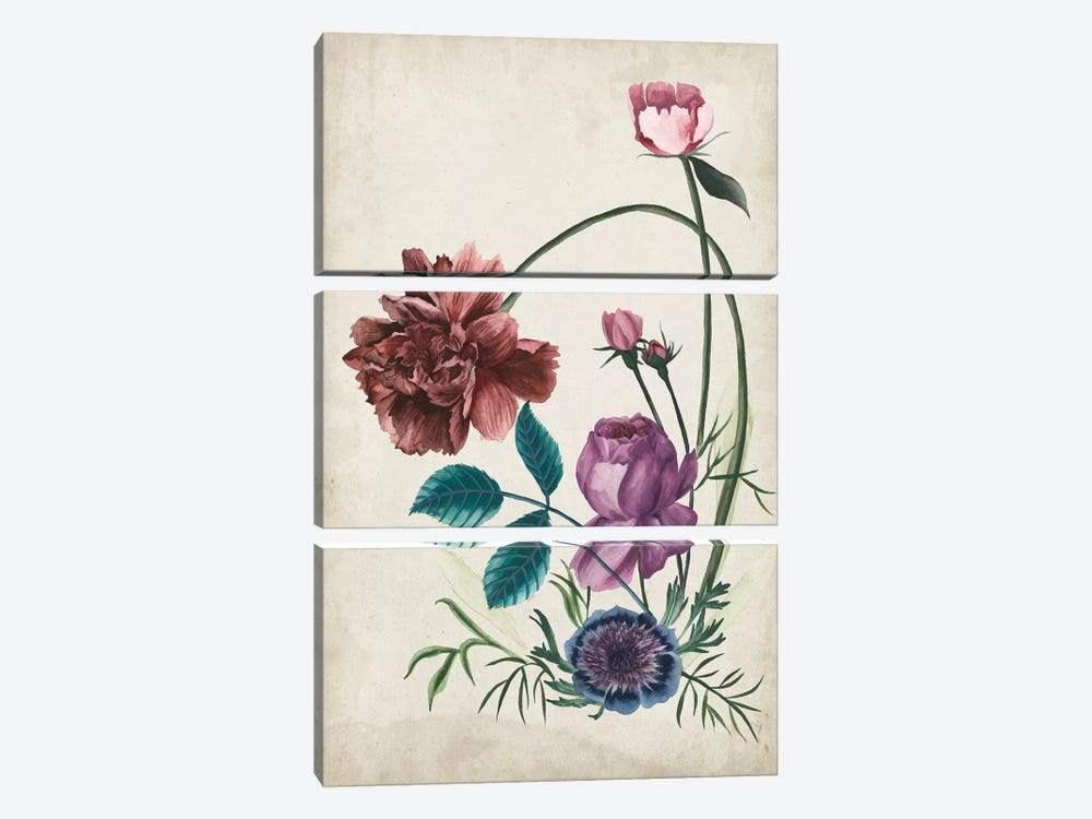 Antique Peony II by Melissa Wang 3-piece Art Print
