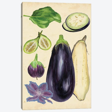 Aubergine Study II 3-Piece Canvas #WNG287} by Melissa Wang Canvas Print