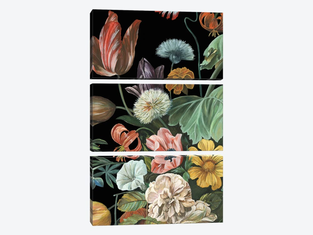 Baroque Floral I by Melissa Wang 3-piece Canvas Art
