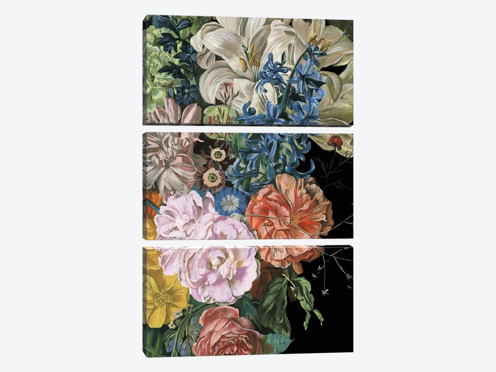 Baroque Floral II by Melissa Wang 3-piece Canvas Print