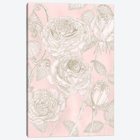 Blooming Roses I Canvas Print #WNG290} by Melissa Wang Canvas Art Print