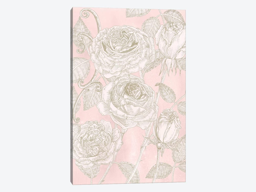 Blooming Roses I by Melissa Wang 1-piece Canvas Print