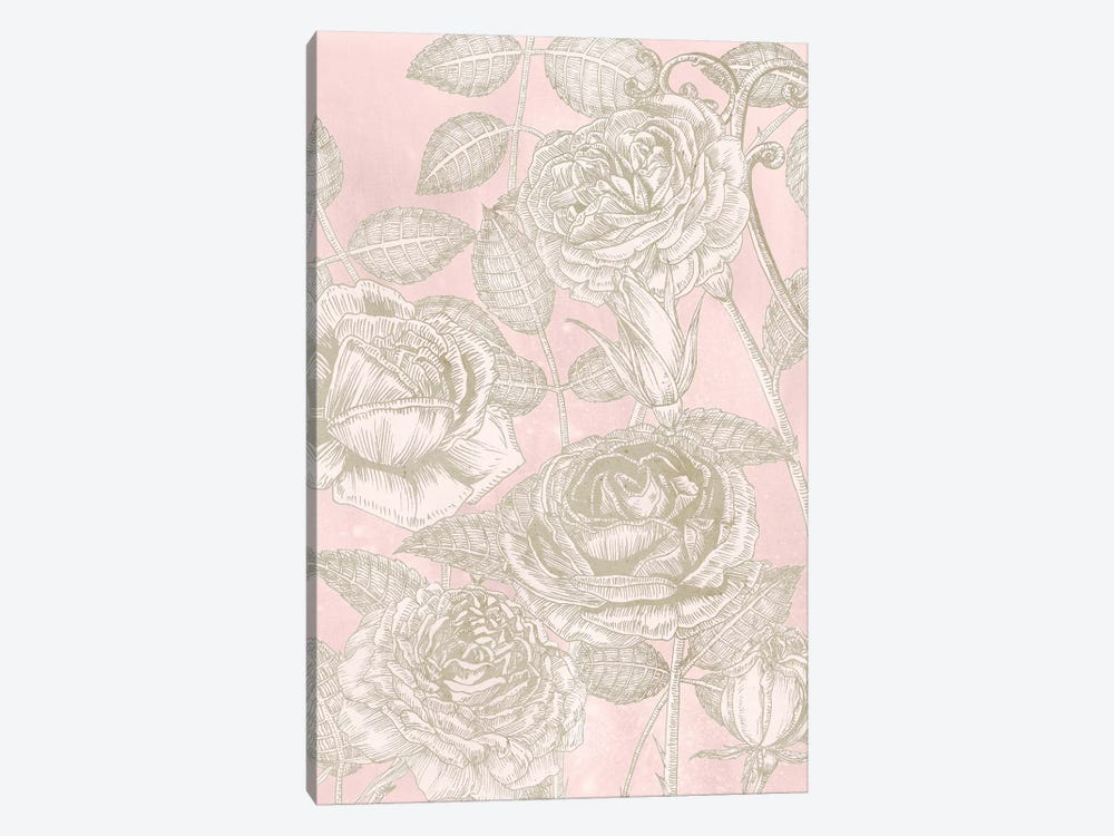Blooming Roses II by Melissa Wang 1-piece Canvas Artwork