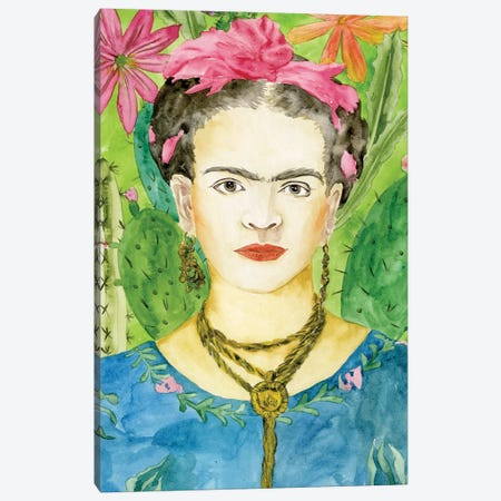 Frida Kahlo II Canvas Print #WNG313} by Melissa Wang Canvas Wall Art