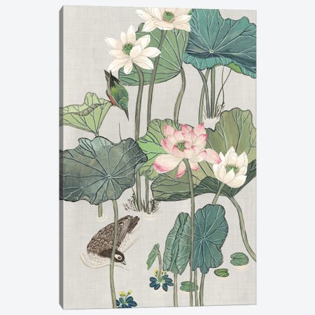 Lotus Pond II Canvas Print #WNG317} by Melissa Wang Art Print
