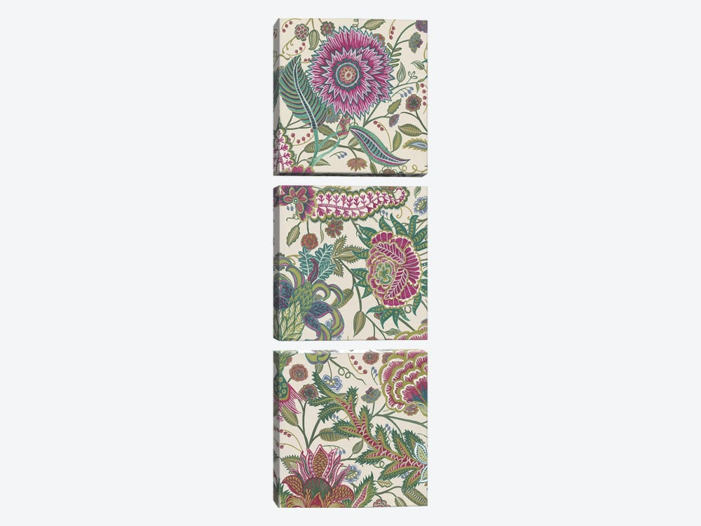 Tropical Chintz I by Melissa Wang 3-piece Canvas Print