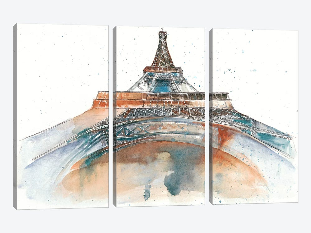 View Of Eiffel I by Melissa Wang 3-piece Canvas Wall Art