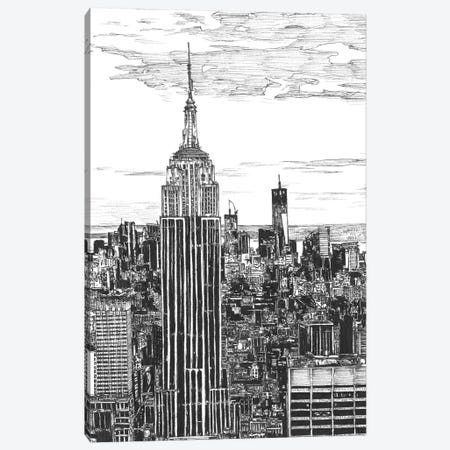 NYC Cityscape in Black & White Canvas Print #WNG399} by Melissa Wang Canvas Art