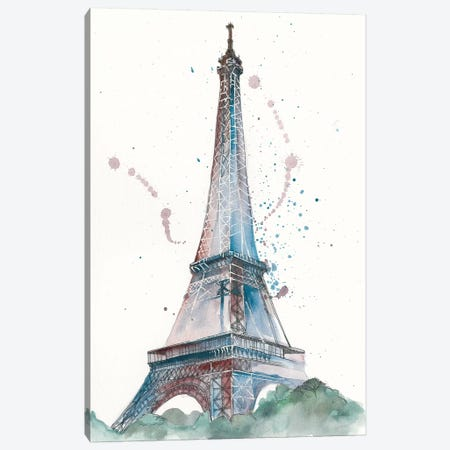 View Of Eiffel III Canvas Print #WNG39} by Melissa Wang Canvas Artwork