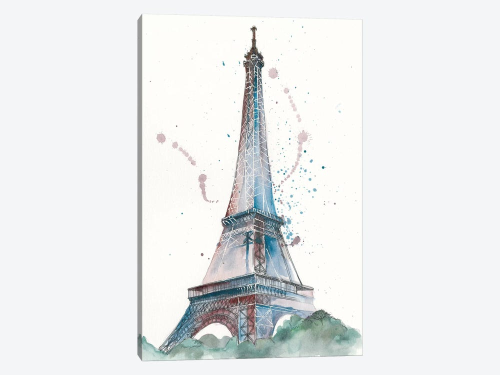 View Of Eiffel III by Melissa Wang 1-piece Canvas Artwork