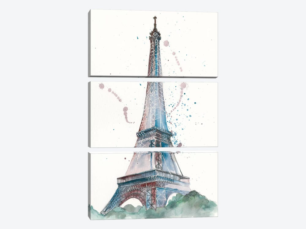 View Of Eiffel III by Melissa Wang 3-piece Canvas Art