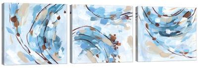 Restless Wave Triptych Canvas Art Print