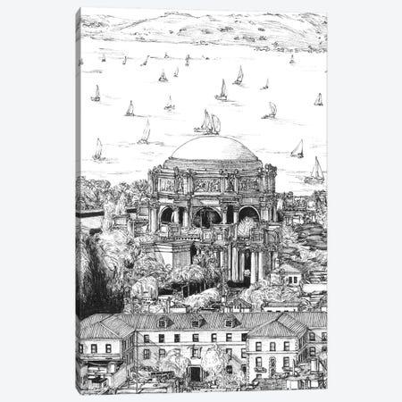 San Francisco Cityscape in Black & White Canvas Print #WNG402} by Melissa Wang Canvas Wall Art