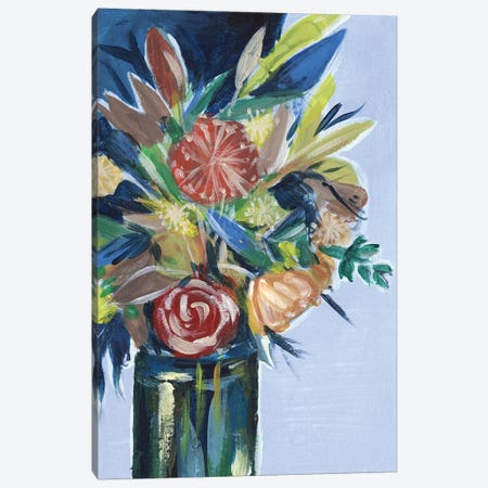 Flowers in a Vase I Canvas Print #WNG415} by Melissa Wang Canvas Wall Art