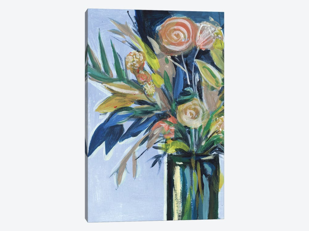 Flowers in a Vase II by Melissa Wang 1-piece Canvas Print