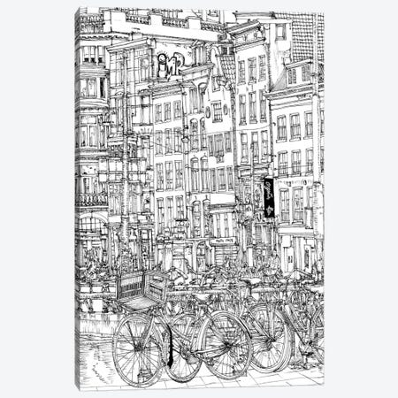 B&W City Scene I Canvas Print #WNG41} by Melissa Wang Art Print