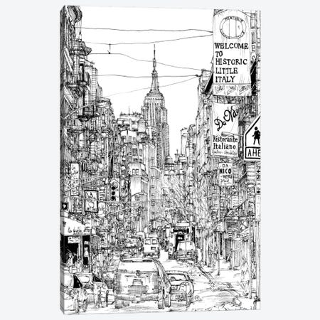 B&W City Scene II Canvas Print #WNG42} by Melissa Wang Canvas Print