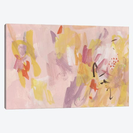Pink Abstraction II Canvas Print #WNG433} by Melissa Wang Art Print