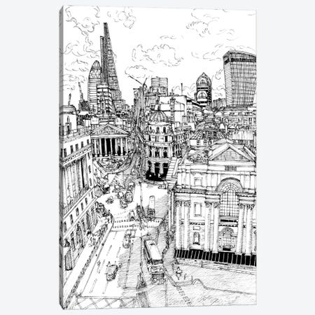 B&W City Scene III Canvas Print #WNG43} by Melissa Wang Canvas Art Print