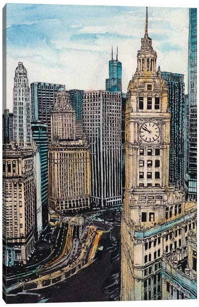 Chicago Cityscape Canvas Art Print