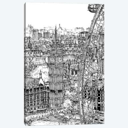 B&W City Scene IV Canvas Print #WNG44} by Melissa Wang Canvas Artwork