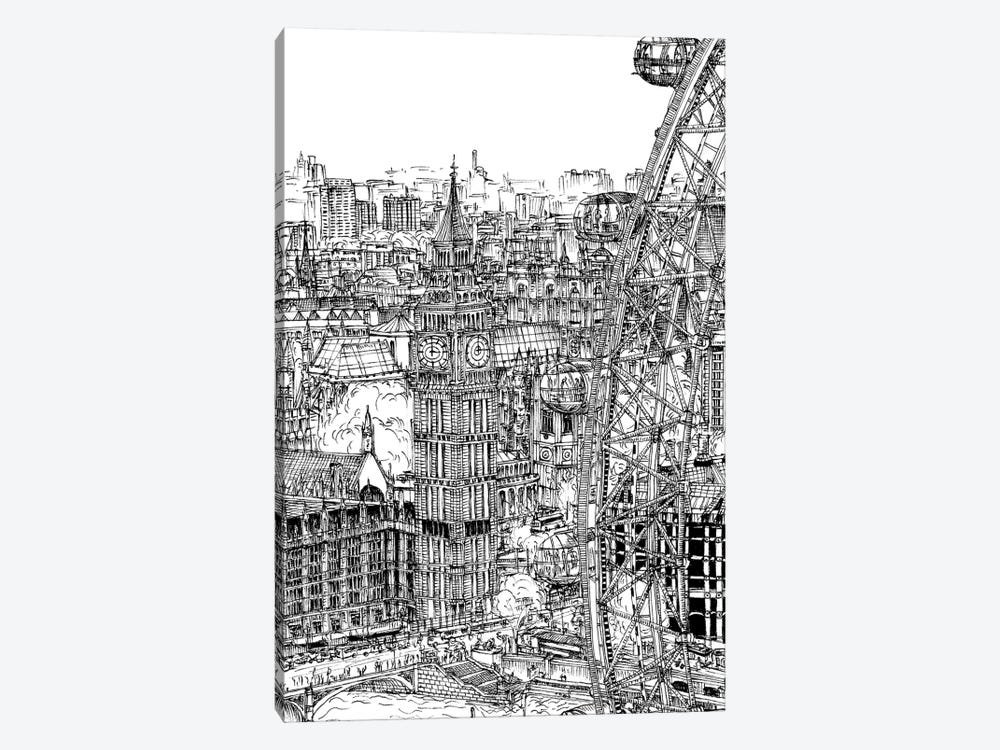 B&W City Scene IV by Melissa Wang 1-piece Canvas Art
