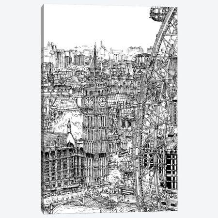 B&W City Scene IV Canvas Print #WNG44} by Melissa Wang Canvas Artwork
