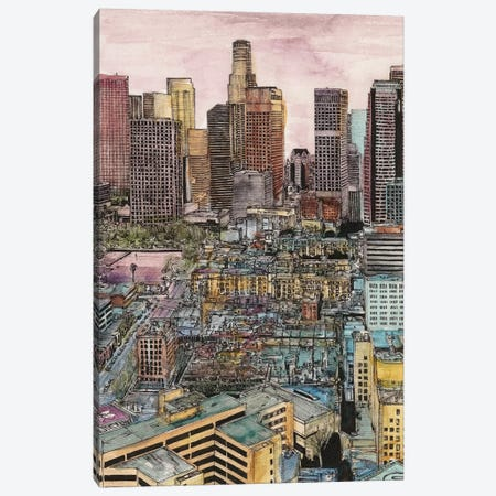 Los Angeles Cityscape Canvas Print #WNG450} by Melissa Wang Art Print