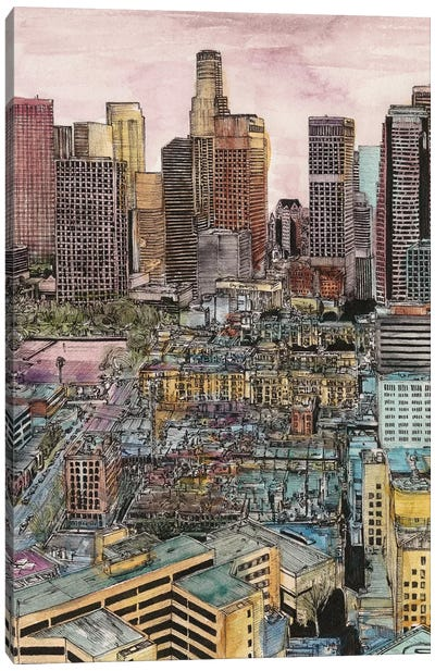 Los Angeles Cityscape Canvas Art Print